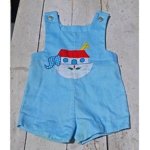 Other - Vintage Baby Noahs Ark Light Blue Overalls